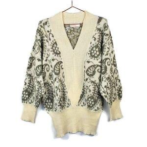 Vintage 80's Oversize Mohair Blend Sweater sz M